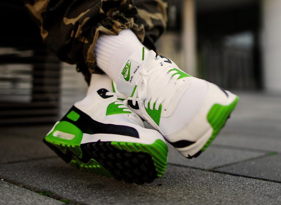 Nike Air Max 90 homme 30th Anniversary vert chlorophylle (3)