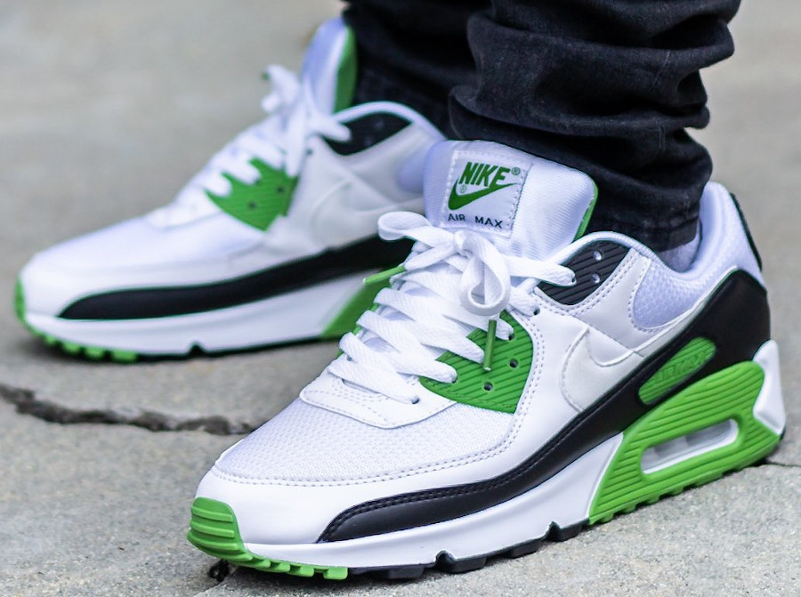 Nike Air Max 90 homme 30th Anniversary vert chlorophylle (5)