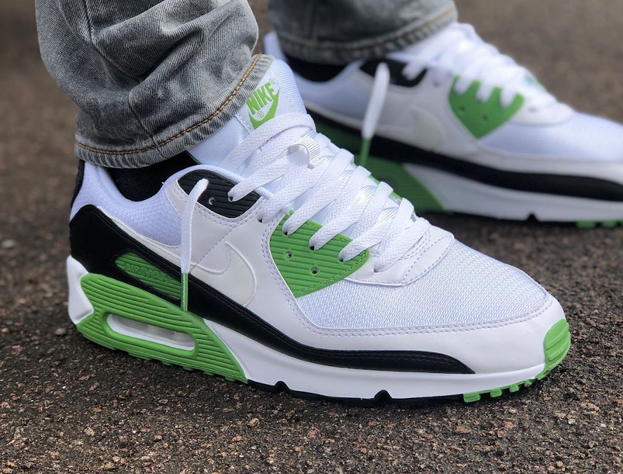 Nike Air Max 90 homme 30th Anniversary vert chlorophylle (6)