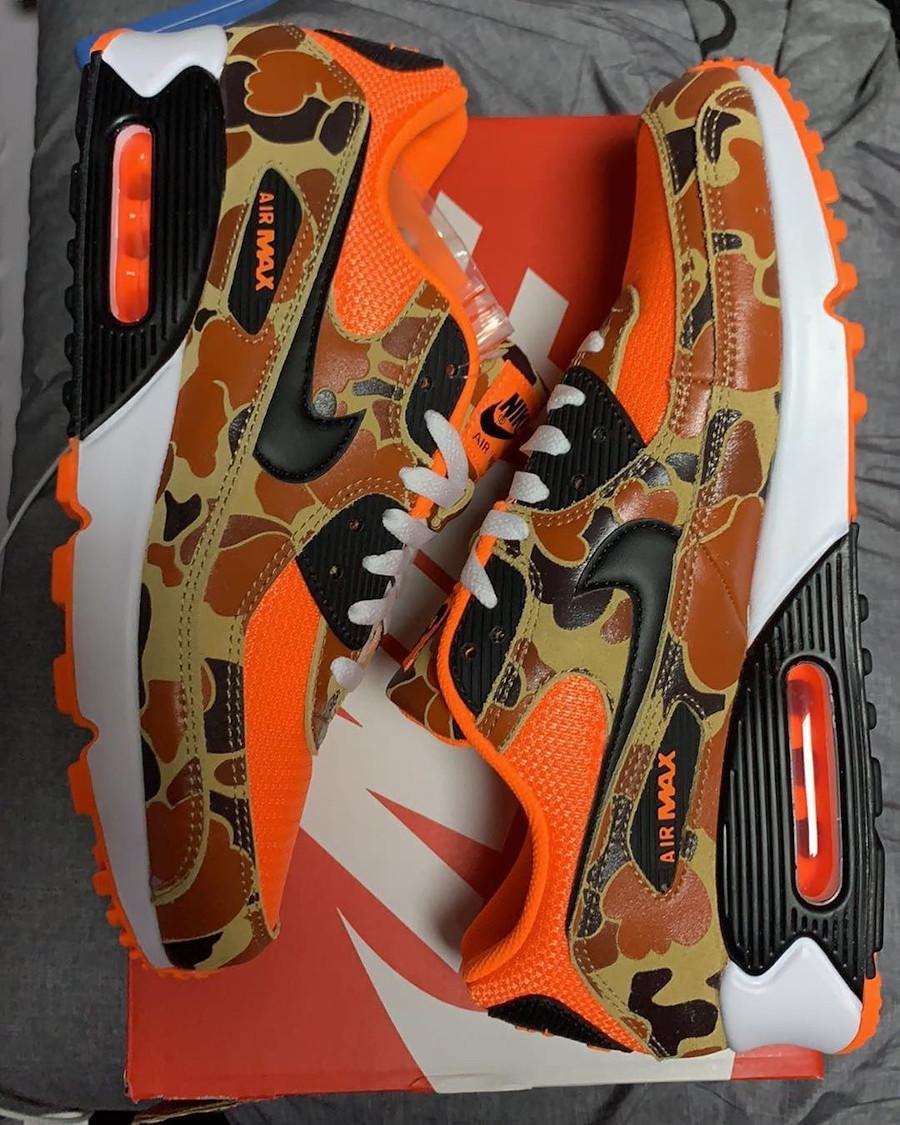Nike Air Max 90 imprimé militaire canard orange (1)