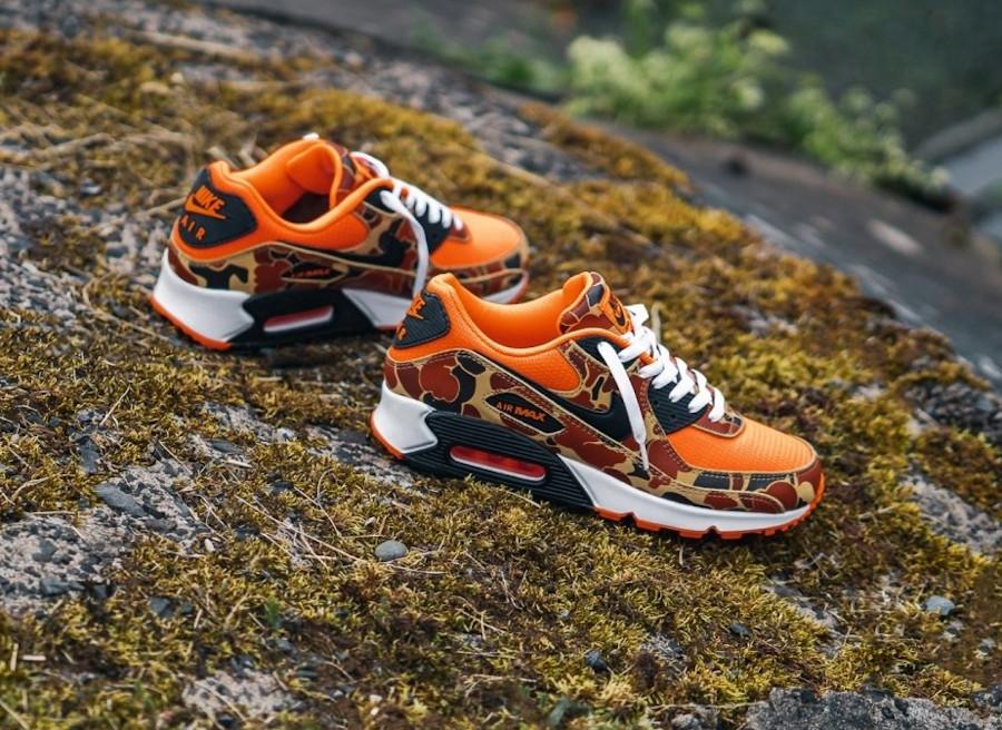 Nike Air Max 90 imprimé militaire canard orange (6)