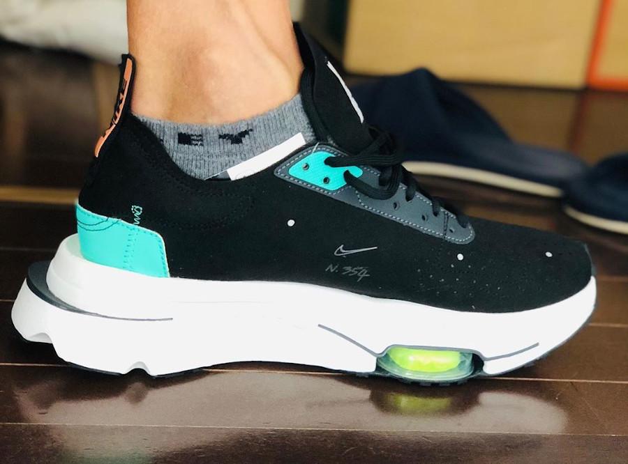 Nike Air Zoom Type N.354 Black Menta on feet (1)