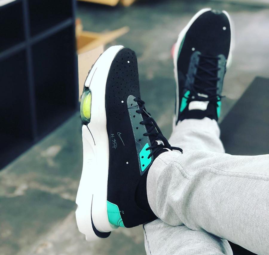 Nike Air Zoom Type N.354 Black Menta on feet (2)