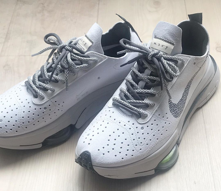 Nike Air Zoom Type Sacai blanche grise et verte (1)