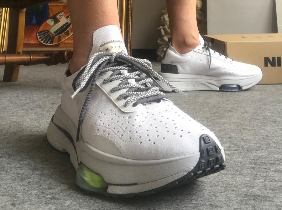 Nike Air Zoom Type Sacai blanche grise et verte (6)