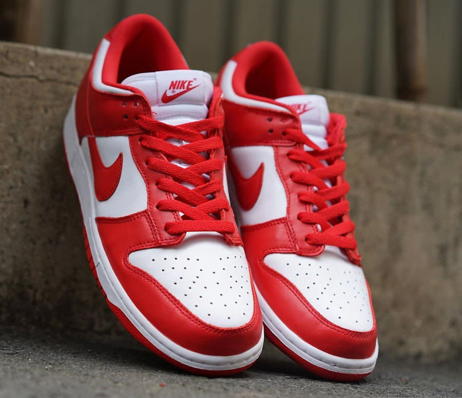 Nike Dunk basse 2020 rouge et blanche (2)