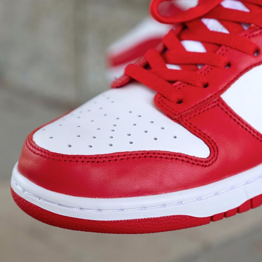 Nike Dunk basse 2020 rouge et blanche (4)