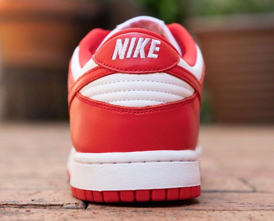 Nike Dunk basse 2020 rouge et blanche (5)