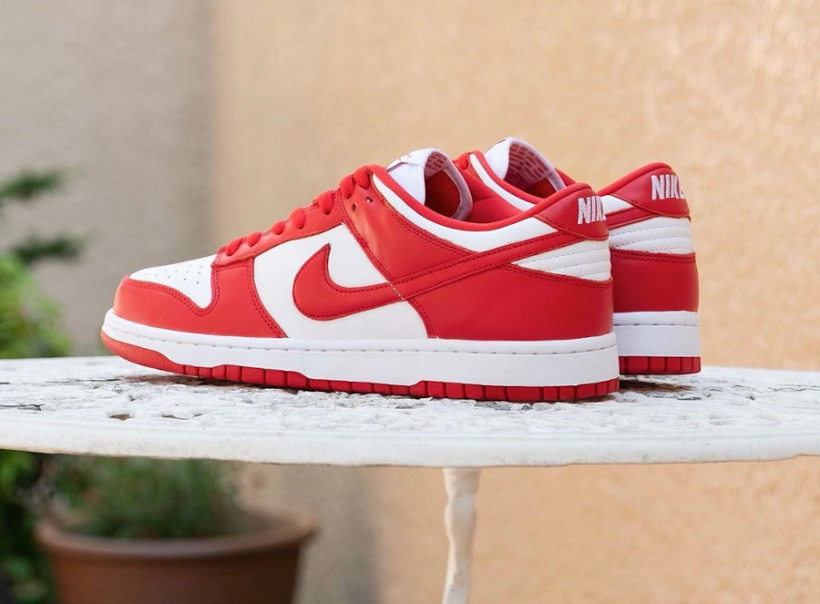 Nike Dunk basse 2020 rouge et blanche (7-1)