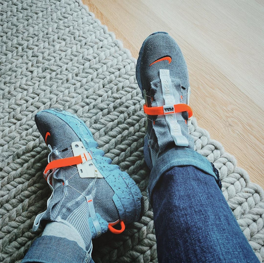 Nike Space Hippie 03 gris et orange (5)