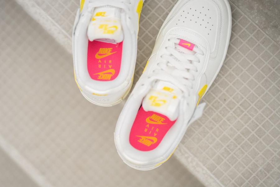 Nike Wmns AF1 Shadow beige jaune et rose (5)