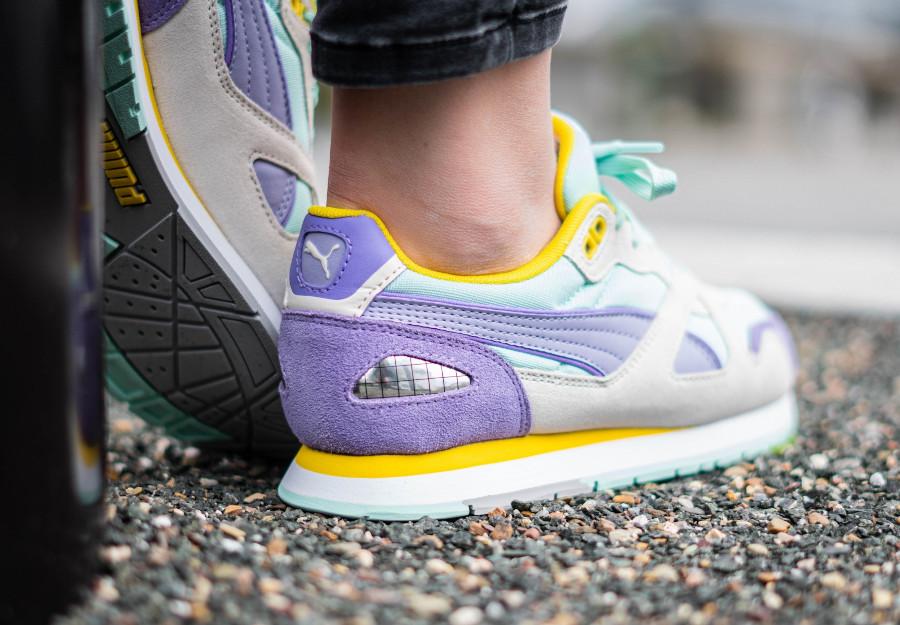 Puma-Mirage-OG-femme-violet-jaune-et-vert-menthe-1