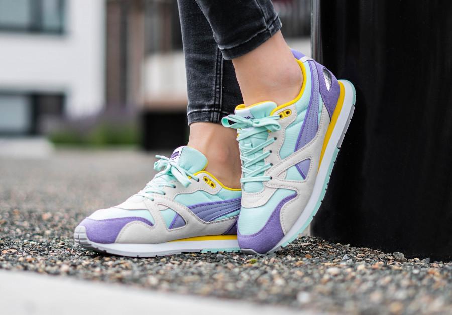 Puma-Mirage-OG-femme-violet-jaune-et-vert-menthe-2