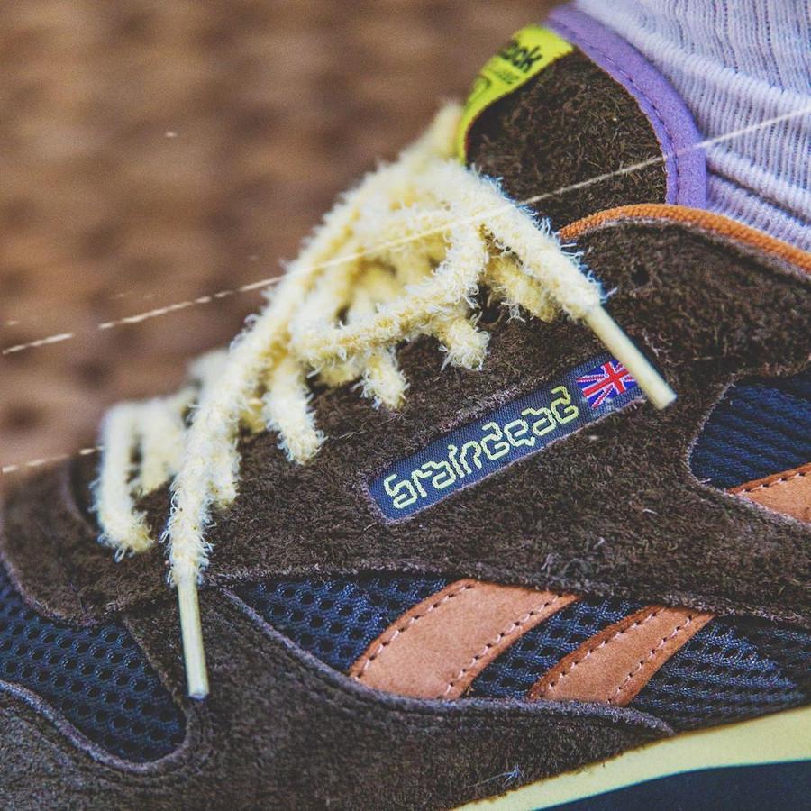 Reebok Classic Leather 2020 en suède vert foncé orange et violet (10)