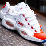 Reebok Question Low White Vivid Orange Ice
