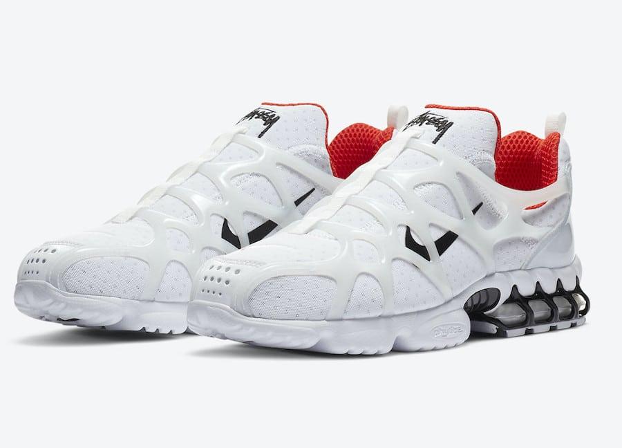 Stussy x Nike Air Zoom Spiridon Kukini White Red sortie en France