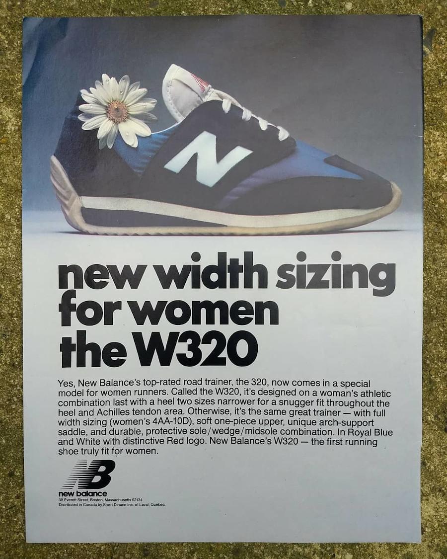 publicité vintage New Balance W320