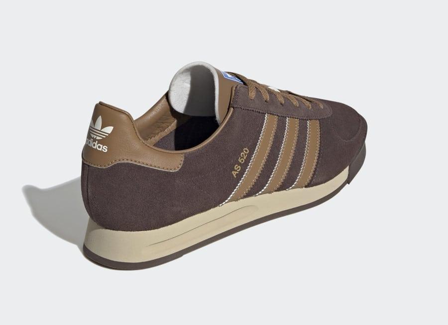 Adidas AS 520 marron et bleue pour homme (4)
