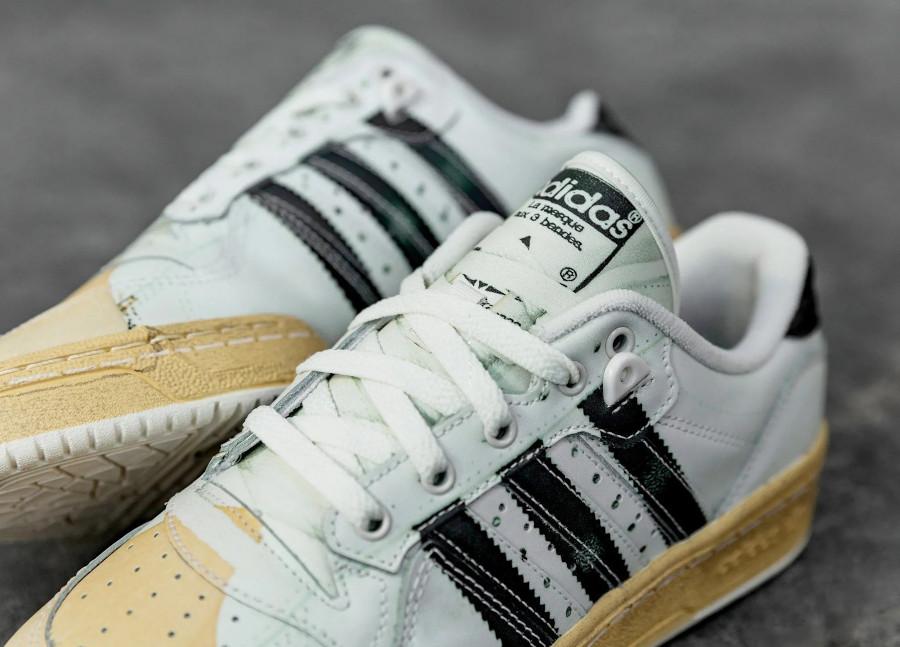 Adidas Rivalry Lo Super Star blanche et noire (1)