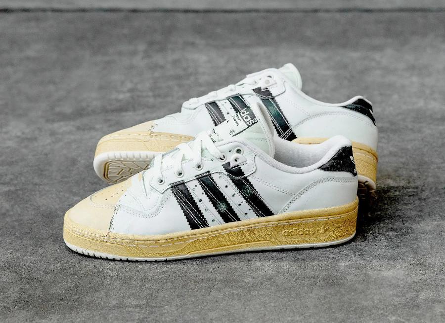 Adidas Rivalry Lo Super Star blanche et noire (2)
