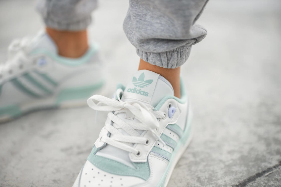 Adidas Rivalry Lo homme blanche vert menthe (2)