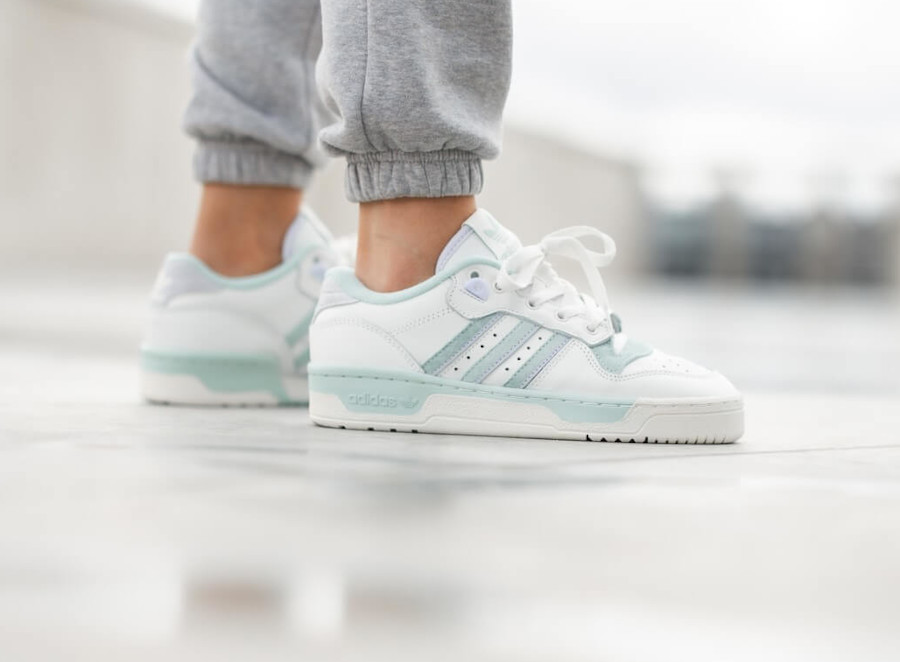 Adidas Rivalry Low White Green Tint EF6412