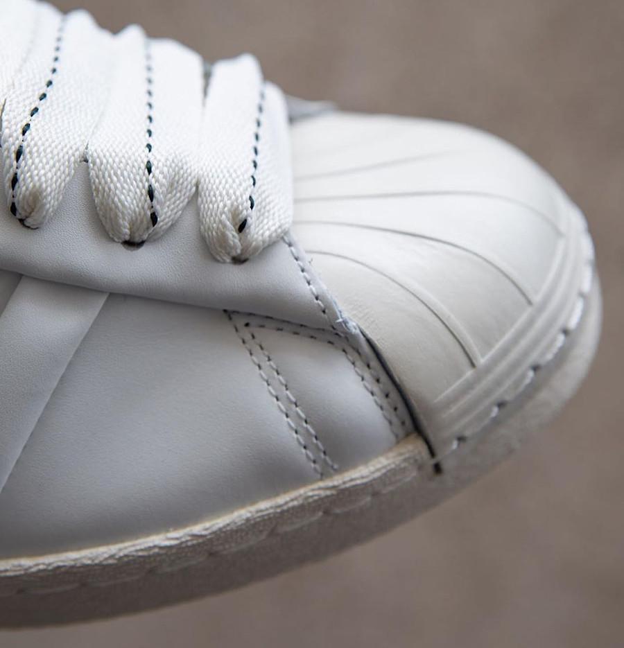 Adidas Superstar 50th JH blanche et noire (5)