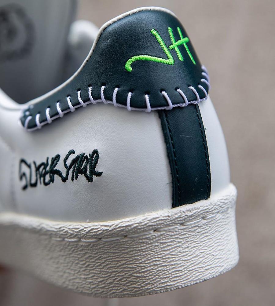 Adidas Superstar 50th JH blanche et noire (9)