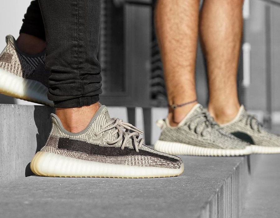 Adidas Yeezy Boost 350 V2 Zion grise et beige (3)