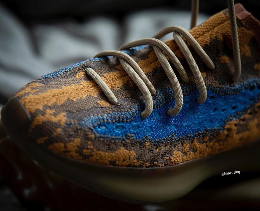 Adidas Yeezy Boost 380 snakeskin marron jaune moutarde et bleu (1)