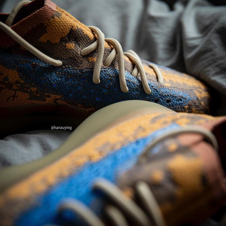 Adidas Yeezy Boost 380 snakeskin marron jaune moutarde et bleu (2)