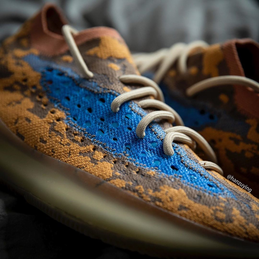 Adidas Yeezy Boost 380 snakeskin marron jaune moutarde et bleu (3)