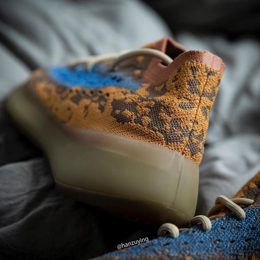 Adidas Yeezy Boost 380 snakeskin marron jaune moutarde et bleu (4)