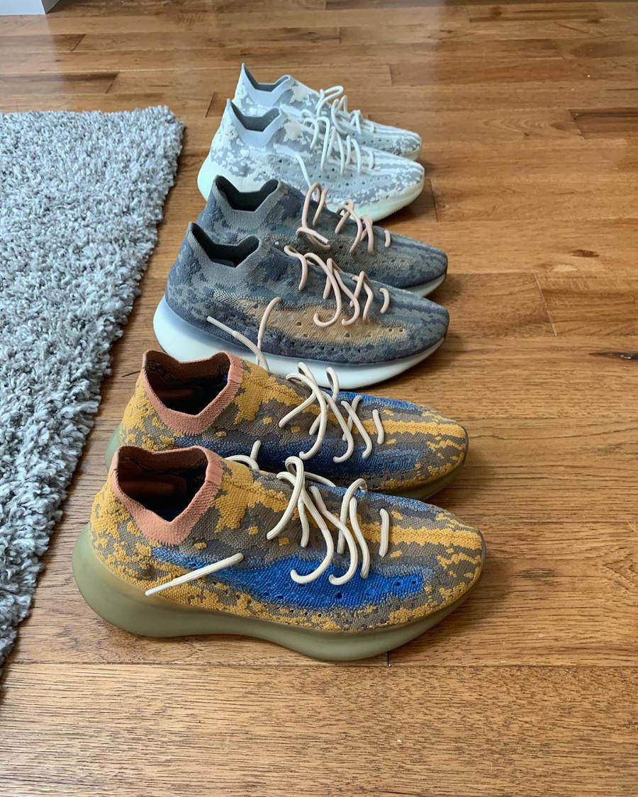 Adidas Yeezy Boost 380 snakeskin marron jaune moutarde et bleu (6)