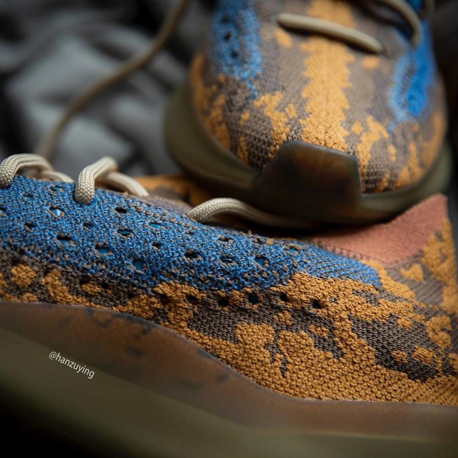 Adidas Yeezy Boost 380 snakeskin marron jaune moutarde et bleu (7)