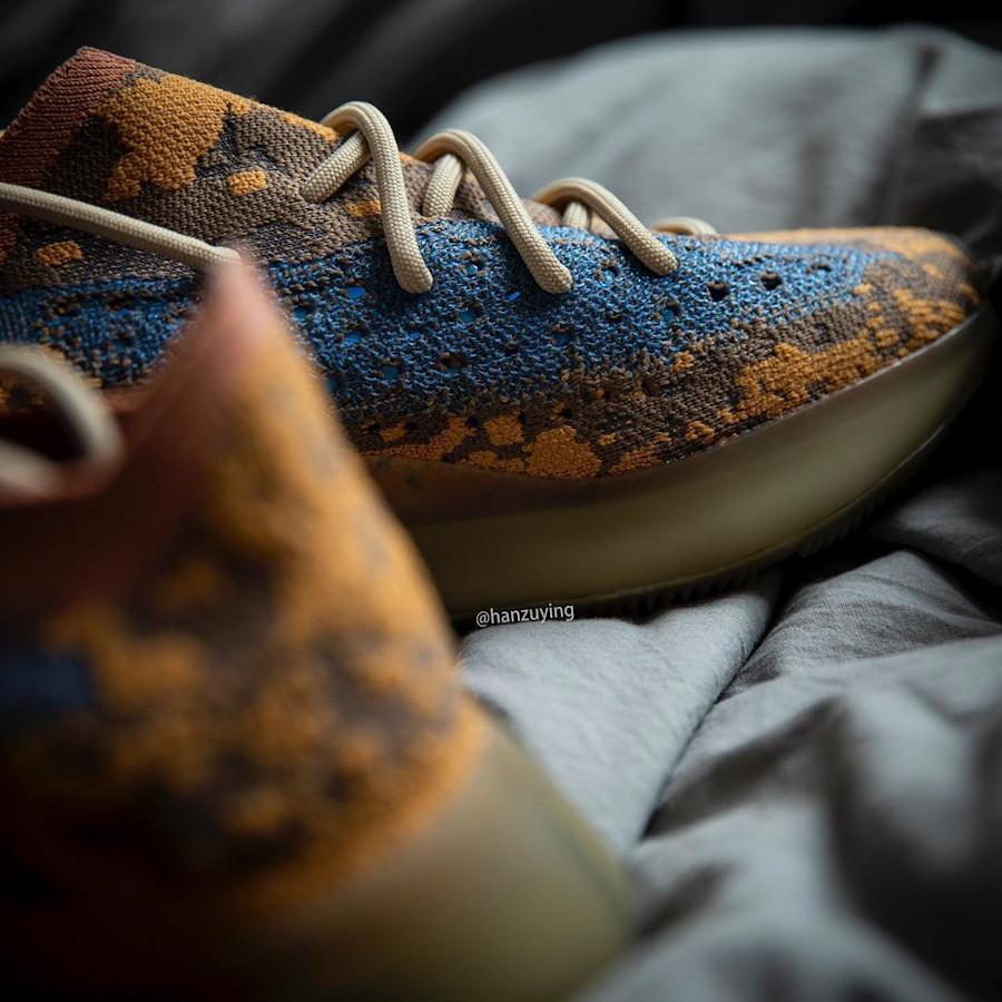 Adidas Yeezy Boost 380 snakeskin marron jaune moutarde et bleu (9)