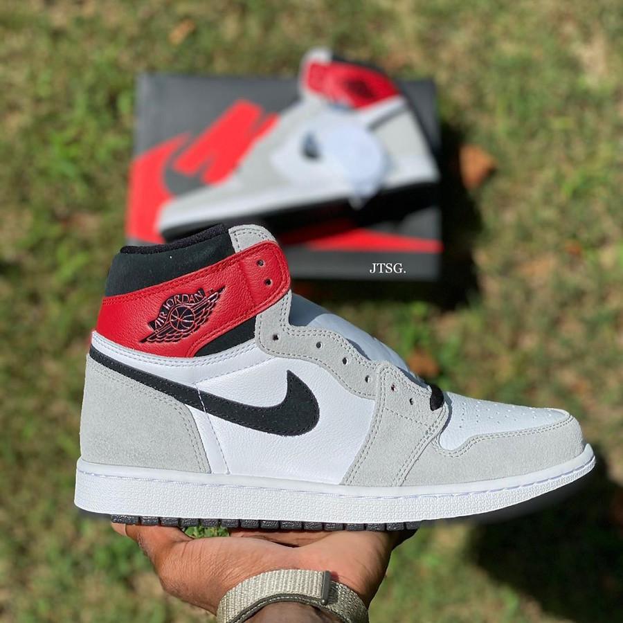 Air Jordan 1 Hi 85 blanche grise et rouge style Union LA (2)