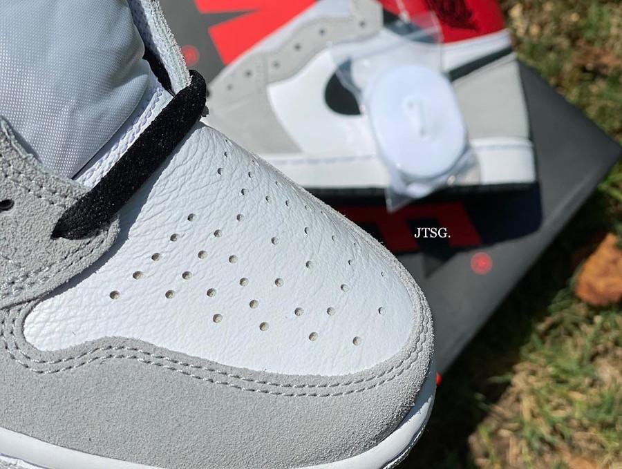 Air Jordan 1 Hi 85 blanche grise et rouge style Union LA (3)