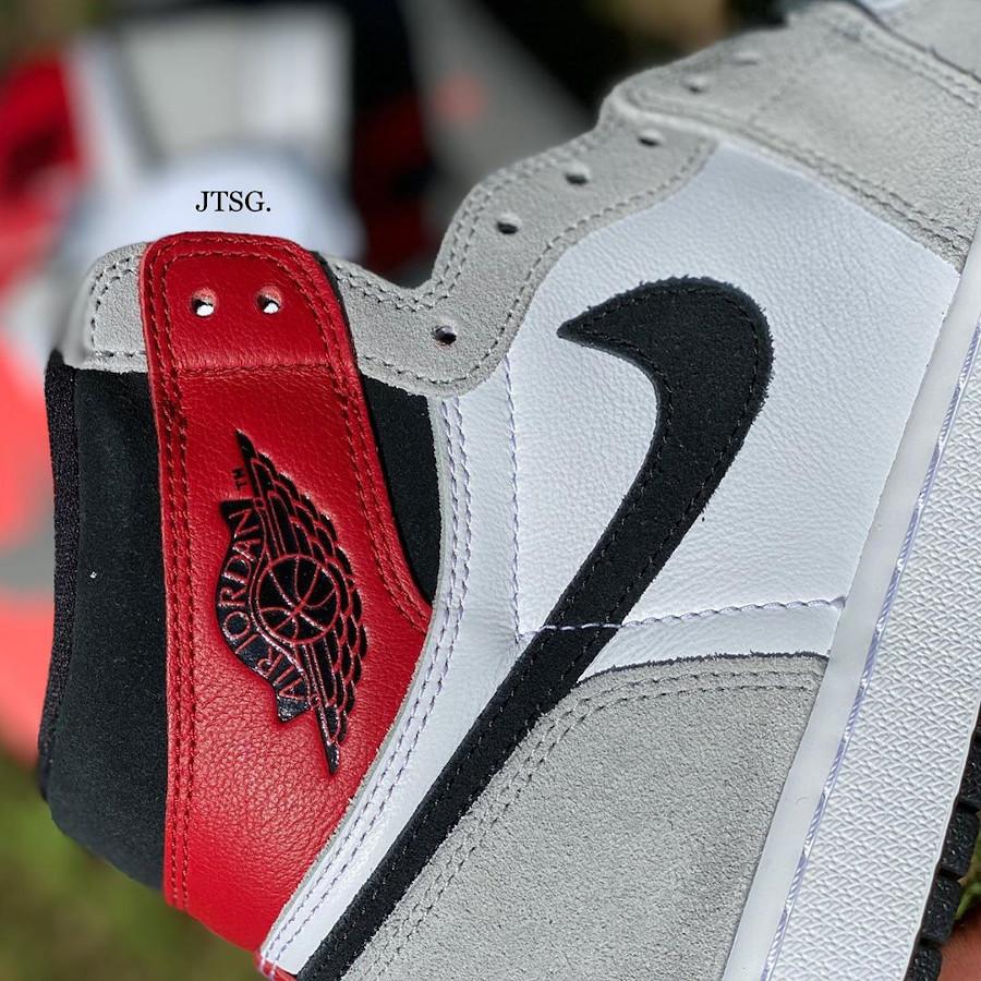 Air Jordan 1 Hi 85 blanche grise et rouge style Union LA (4)