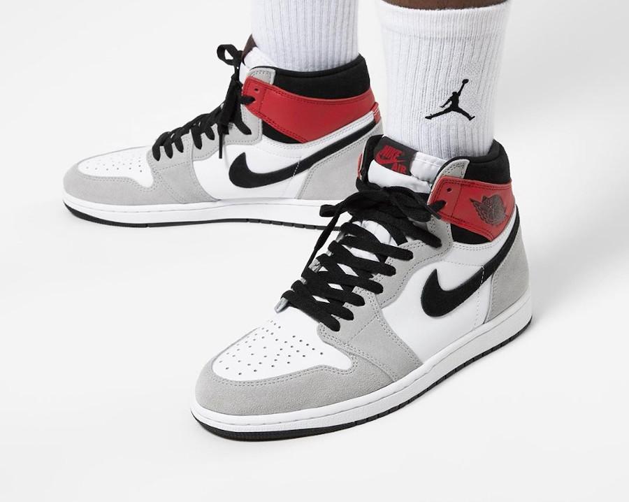 Air Jordan 1 Hi 85 blanche grise et rouge style Union LA (7)