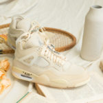 Women's Off White x Air Jordan 4 Retro Sail Muslin