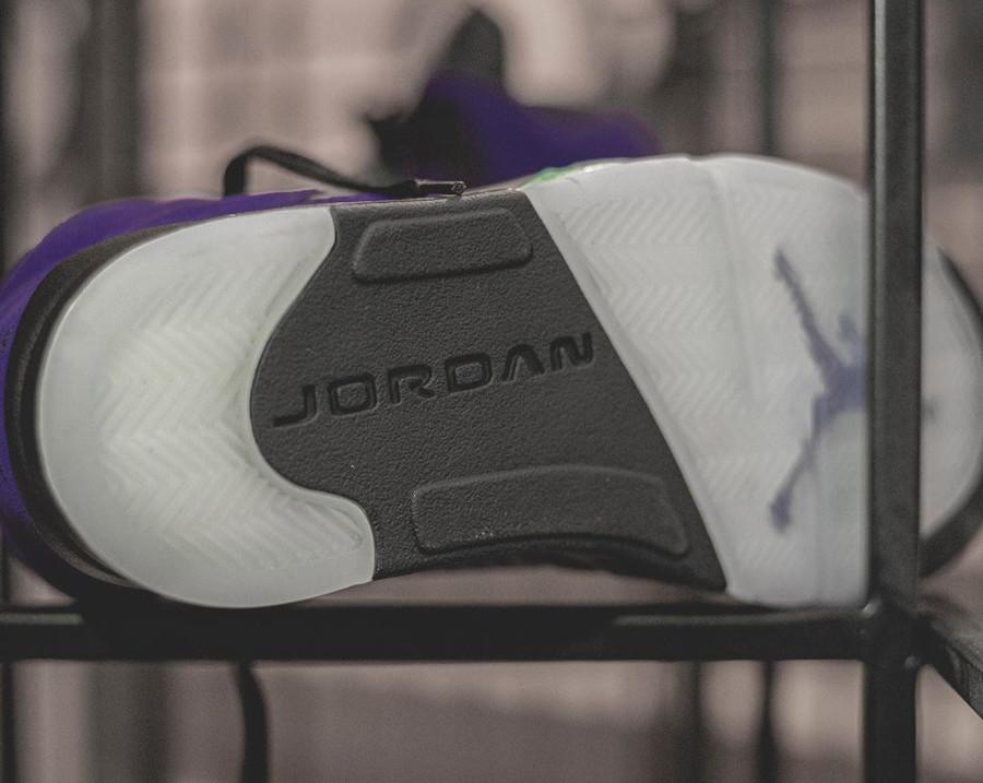 Air Jordan 5 Suede violet raisin et bleu turquoise (6)