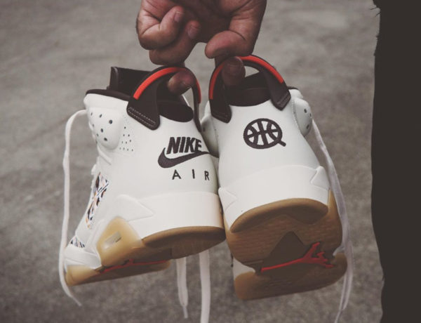Air Jordan VI Retro 2020 en wax beige et marron (1)
