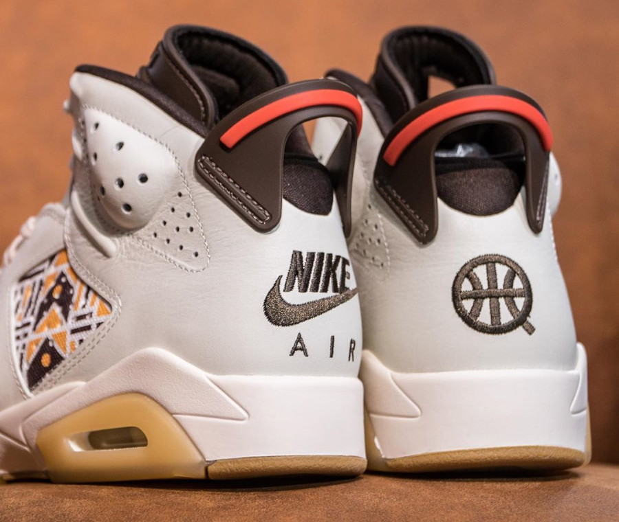 Air Jordan VI Retro 2020 en wax beige et marron (4)