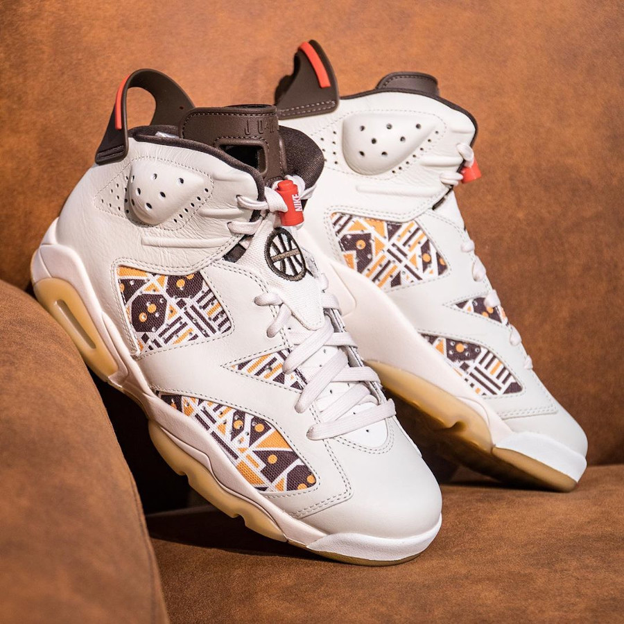 Air Jordan VI Retro 2020 en wax beige et marron (5)
