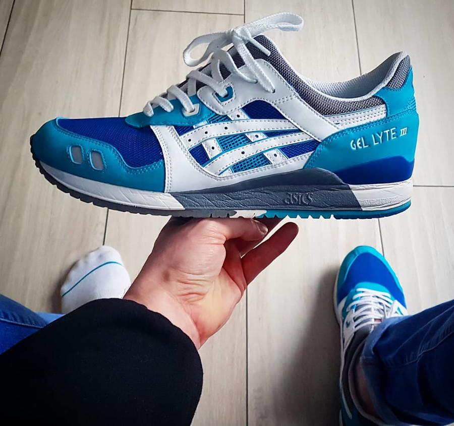 Asics Gel Lyte 3 Kithstrike White Blue kicks_and_bbq