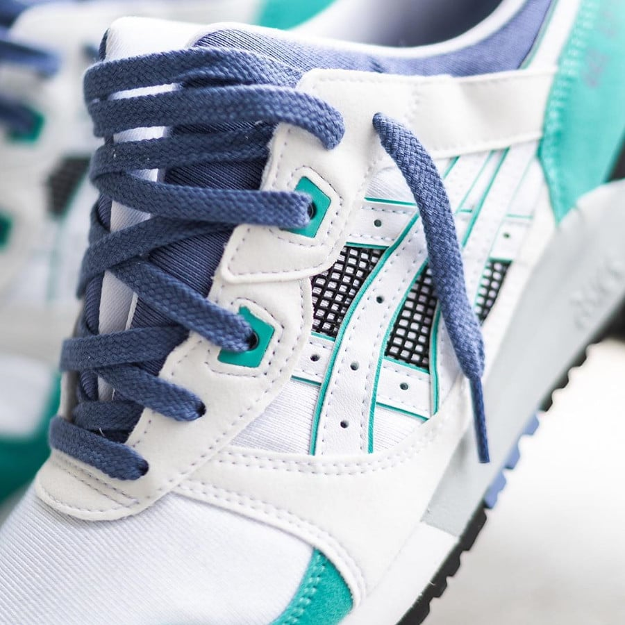 Asics Gel Lyte III originale 2020 blanche grape et vert (2)