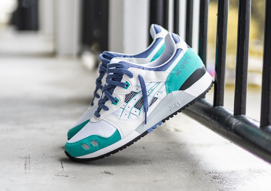 Asics Gel Lyte III originale 2020 blanche grape et vert (3)