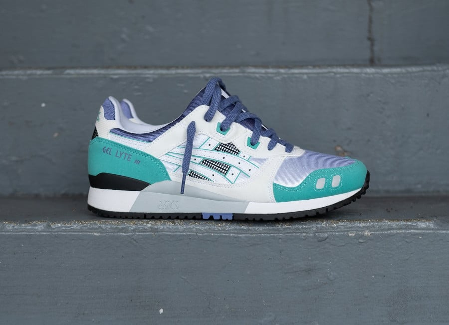 Asics Gel Lyte III originale 2020 blanche grape et vert (4)