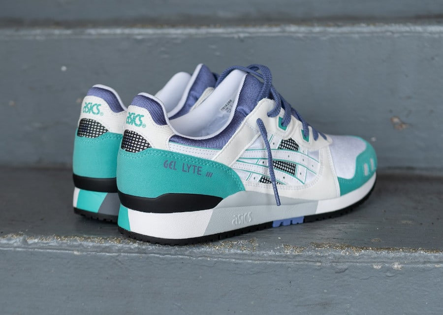 Asics Gel Lyte III originale 2020 blanche grape et vert (6)